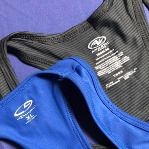 Two Workout TOPS  NWOT: blue & charcoal